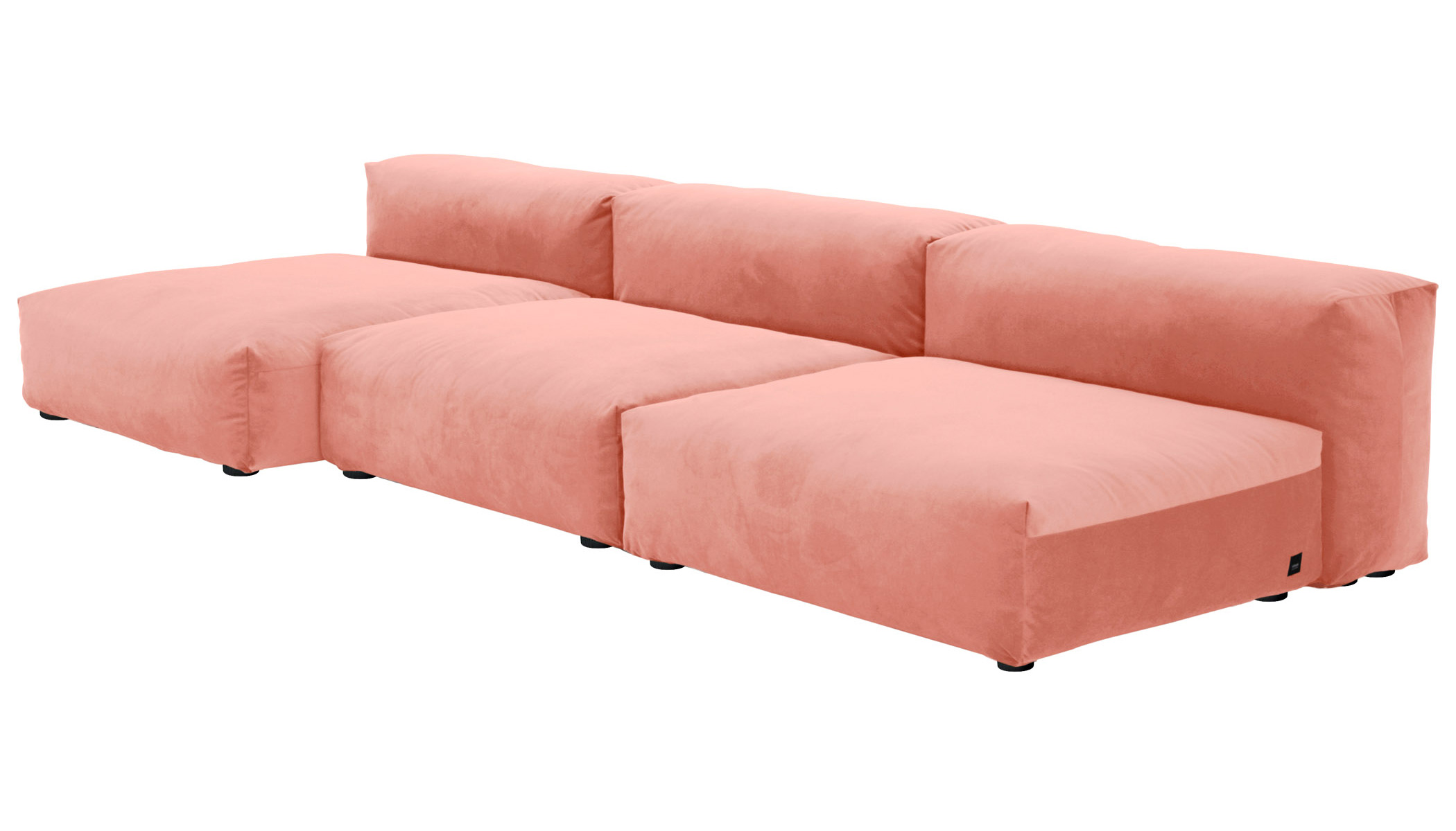Sofa 1 Large 2 Medium 3 Side Velvet peach
