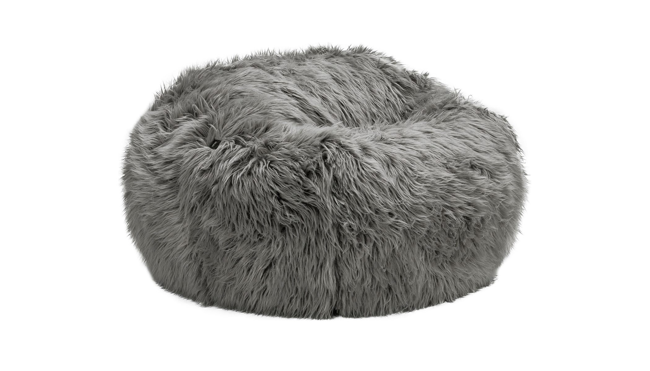 Beanbag Medium Flokati grey