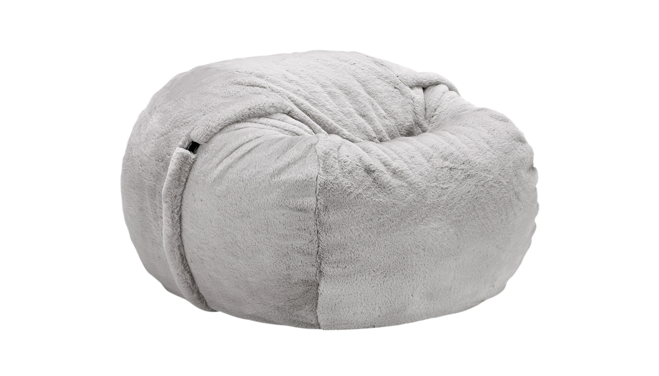 Beanbag Medium Faux Rabbit Fur grey